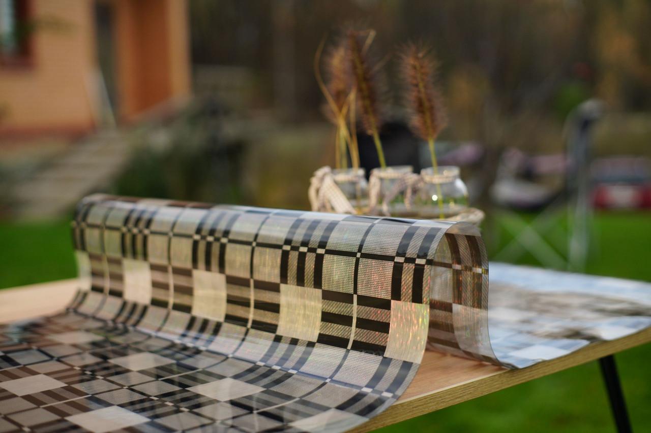 Мягкое стекло с лазерным рисунком для защиты стеклянных и деревянных поверхностей мебели, ширина 60 см