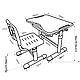 Комплект парта и стул-трансформеры FunDesk Sole Grey, фото 8