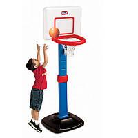 Детский Игровой Спортивный Набор Раздвижной Баскетбольный Щит 60-120см из пластика с легким мячом Little Tikes