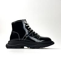 Alexander McQueen Tread Slick Black (Мех) (Черный), фото 1