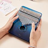 Калимба Zani музыкальный инструмент на 21 язычок (премиум качество) - Синий, фото 5