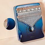 Калимба Zani музыкальный инструмент на 21 язычок (премиум качество) - Синий, фото 6