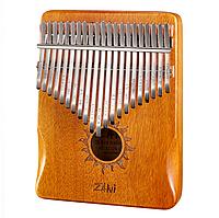 Калимба Zani музыкальный инструмент на 21 язычок (премиум качество) - Желтый