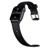 Смарт-часы HerzBand M2 с измерением кислорода в крови и спорт функциями - Черный, фото 2
