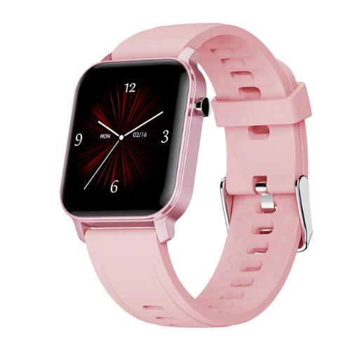 Смарт-часы HerzBand M2 с измерением кислорода в крови и спорт функциями - Розовый