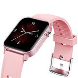 Смарт-часы HerzBand M2 с измерением кислорода в крови и спорт функциями - Розовый, фото 8