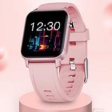 Смарт-часы HerzBand M2 с измерением кислорода в крови и спорт функциями - Розовый, фото 9