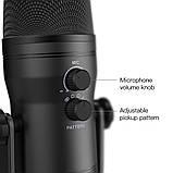 Fifine K690 USB микрофон с настройкой направленности - Черный, фото 6