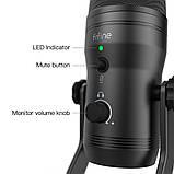 Fifine K690 USB микрофон с настройкой направленности - Черный, фото 7