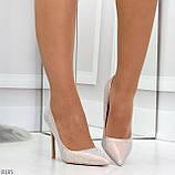 Роскошные жемчужные розовые женские туфли шпилька на праздник, фото 4
