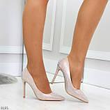 Роскошные жемчужные розовые женские туфли шпилька на праздник, фото 5