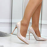 Роскошные жемчужные розовые женские туфли шпилька на праздник, фото 6