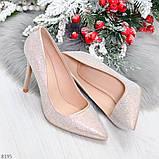 Роскошные жемчужные розовые женские туфли шпилька на праздник, фото 7