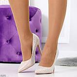 Роскошные жемчужные розовые женские туфли шпилька на праздник, фото 8