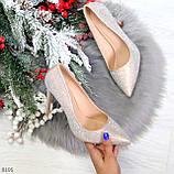 Роскошные жемчужные розовые женские туфли шпилька на праздник, фото 9