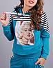 """Костюм женский спортивный """"Мерилин Монро"""", размеры 46-52, фото 2"""