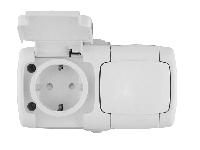 Розетка Rondo RA16-227B-BI белая