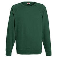 Темно-зеленый мужской свитшот (толстовка - реглан)