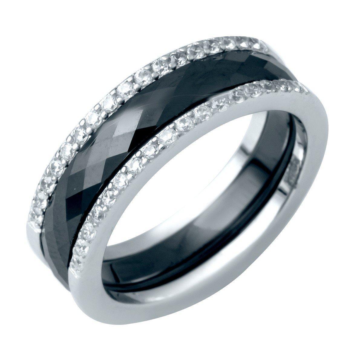 Серебряное кольцо DreamJewelry с керамикой (1214503) 18 размер