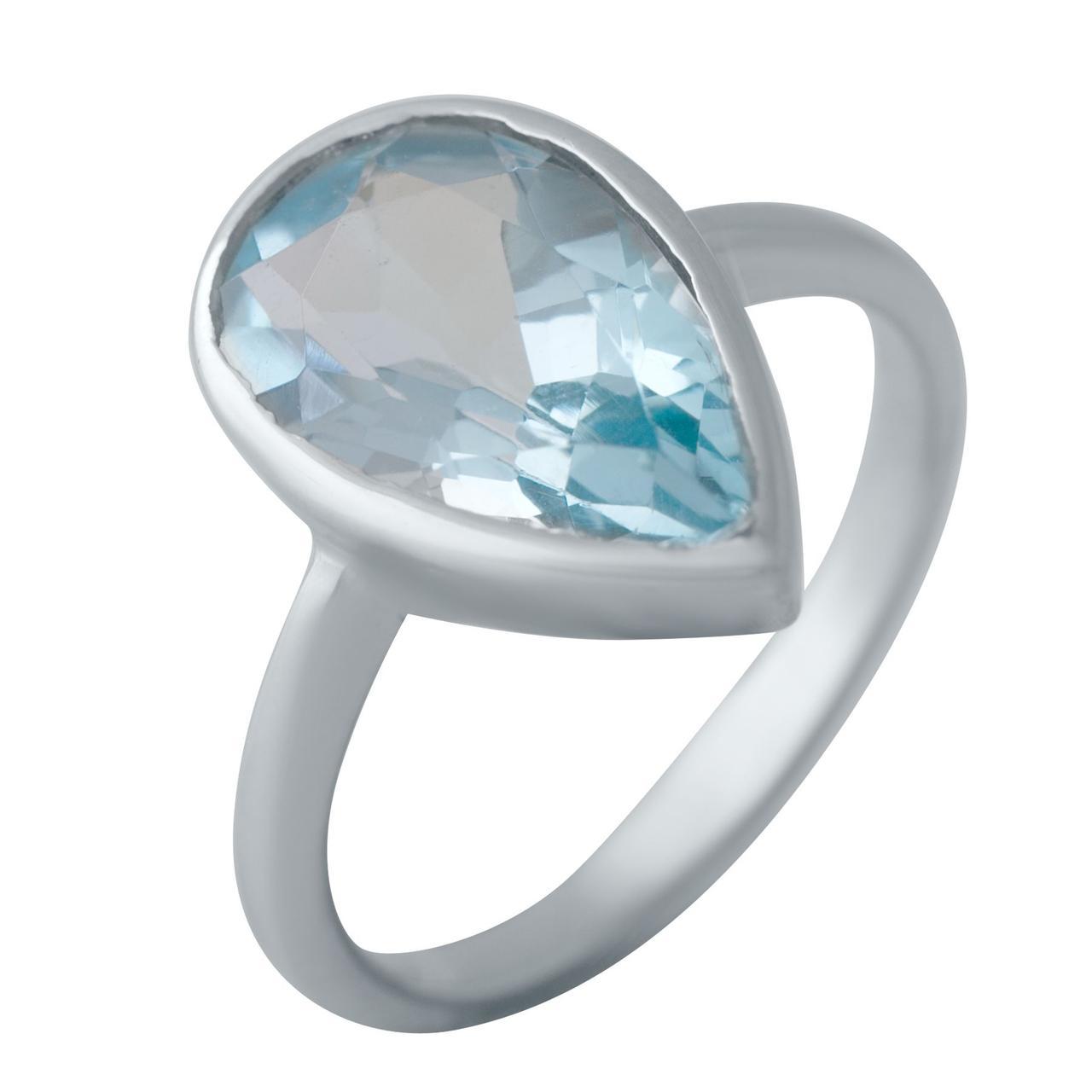 Серебряное кольцо DreamJewelry с натуральным топазом (2043942) 18 размер