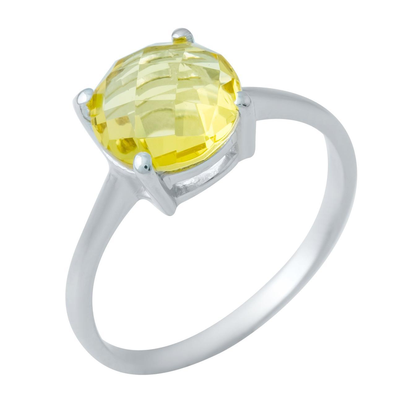 Серебряное кольцо DreamJewelry с цитрином nano 2.49ct (1949917) 18 размер