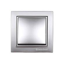 Выключатель Серебряный камень Enzo IP22 ElectroHouse EH-2181-ST