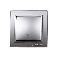 Выключатель проходной Среребряный камень Enzo IP22 ElectroHouse EH-2186-ST