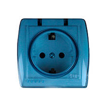 Розетка з заземленням з кришкою Acura 16A IP22 ElectroHouse EH-2148