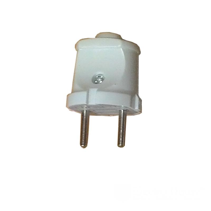 Вилка без заземления Garant белая ElectroHouse EH-2125