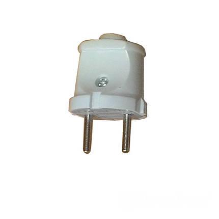 Вилка без заземления Garant белая ElectroHouse EH-2125, фото 2