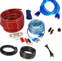Набор кабелей для автоакустики mdk md-86 8ga Комплект проводов для автомобильного усилителя 5 м