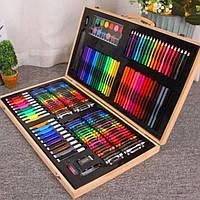 Художественный набор (220 предметов) в деревянном чемоданчике | Детский набор для рисования