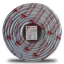 Телевізійний (коаксіальний) кабель RG-6U Cu 1,02 Cu білий ПВХ ElectroHouse EH-1