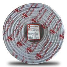 Телевізійний (коаксіальний) кабель RG-6U CCS 1,02 Cu білий ПВХ EH-2 ElectroHouse EH-2