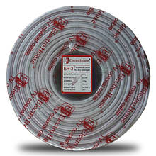Телевізійний (коаксіальний) кабель RG-6U CCS 1,02 Cu білий ПВХ EH-3 ElectroHouse EH-3