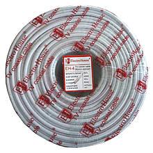 Телевізійний (коаксіальний) кабель RG-6U CCS 1,02 Cu ПВХ білий ElectroHouse EH-4