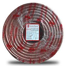 Телевізійний (коаксіальний) кабель RG-6U CCS 1,02 Cu прозорий Силікон ElectroHouse EH-6