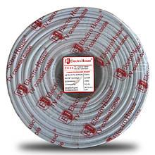 Телевізійний (коаксіальний) кабель RG-6U CCS 1,02 Cu гермет. фольга білий ПВХ ElectroHouse EH-13