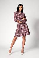Легке плаття в горошок з довгим рукавом. Розміри: 48,50, фото 1