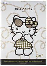 Гофрокартон цветной метализированный Hello Kitty Diva, 5 цветов А4, Kite