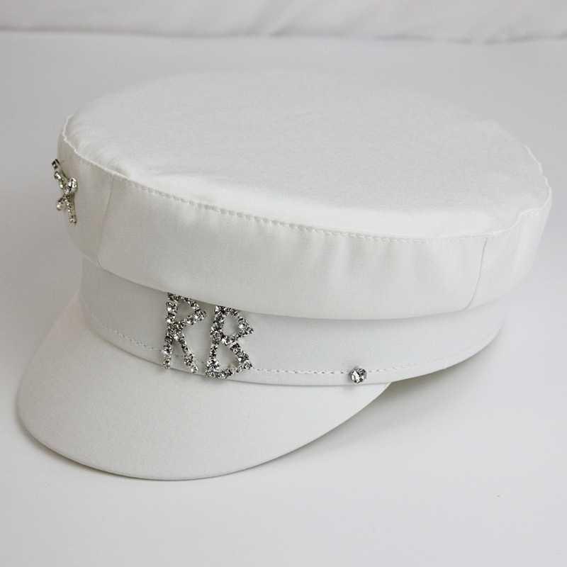 Женский картуз, кепи, фуражка RB атласный декорированный белый
