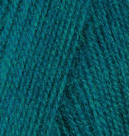 Нитки Alize Angora Real 40 640 павлиновая зелень, фото 2