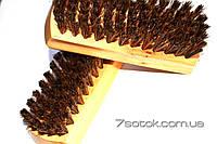 Щетка  для  обуви  и одежды  кремовая horsehair 100%, короткая