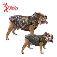 Жилет утеплений для собак DIEGO sport 6/2 сірий, розмір 6
