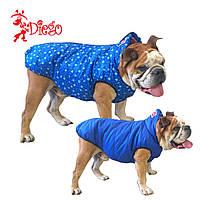 Жилет для собаки двухсторонний DIEGO sport double 7/9 Снежинки, размер 7