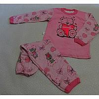 Детская пижама с манжетами (2-х нитка начес) 122/128