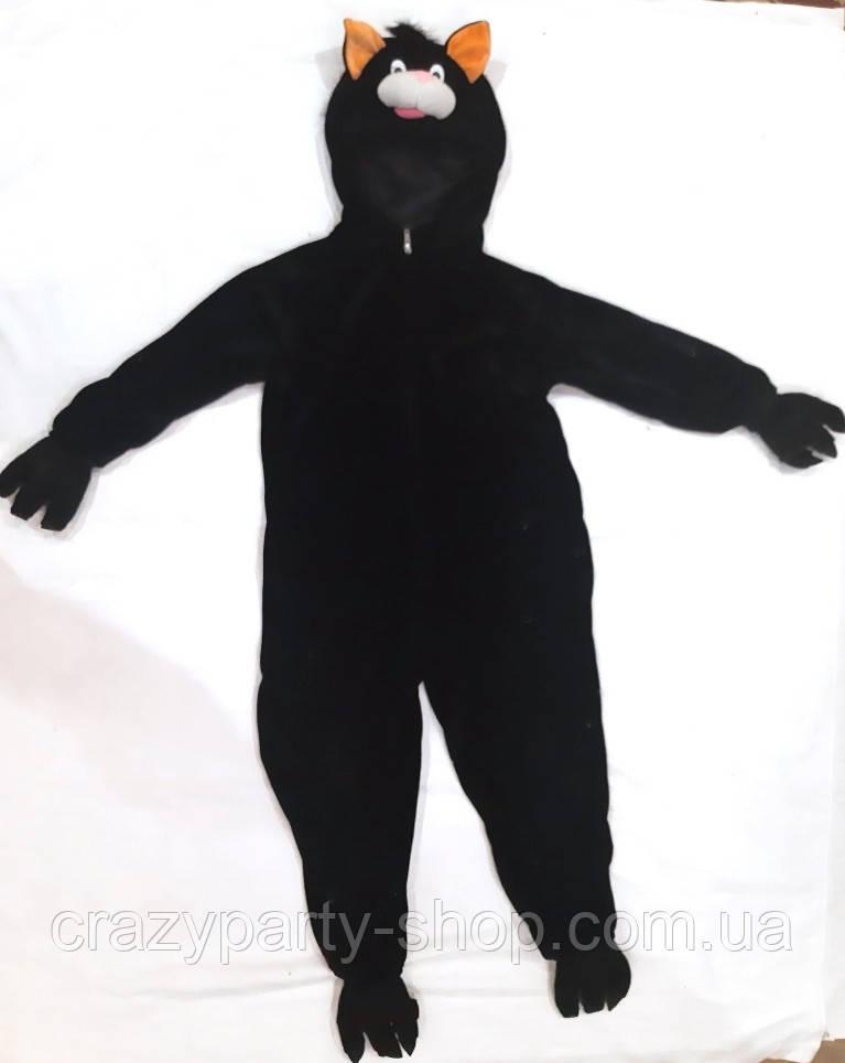 Костюм карнавальный Черный кот рост 116-122см  б/у