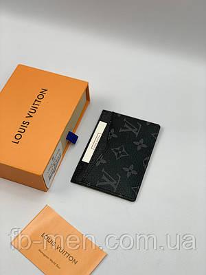 Визитница Louis Vuitton серый монограмм   Картхолдер мужской женский Луи Виттон серого цвета   Кредитница  LV