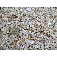 Грунт жовтий мармур 3-6 мм, 1 кг