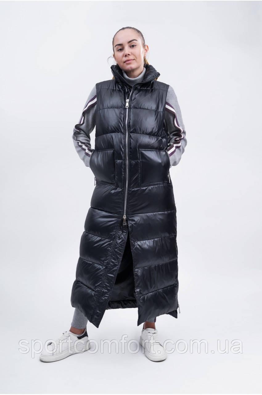 Жилетка длинная женская Freever черная